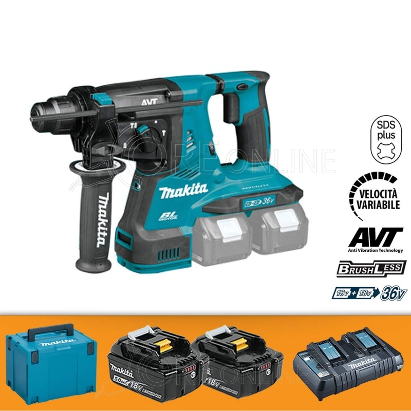 Makita Tassellatore a tre funzion SDS-PLUS DHR280PT2J
