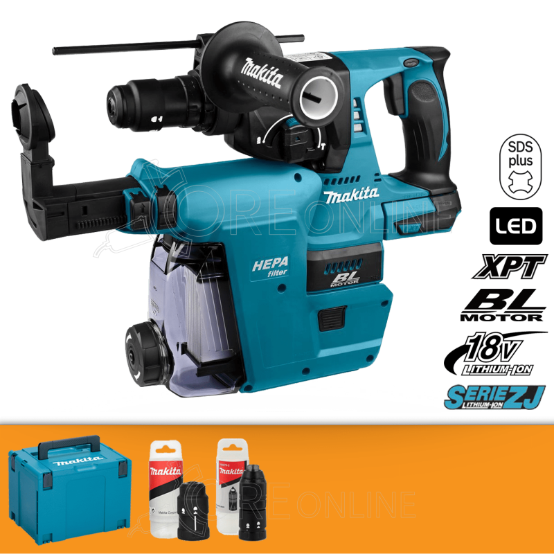 Makita Tassellatore a tre funzion SDS-PLUS DHR243ZJV