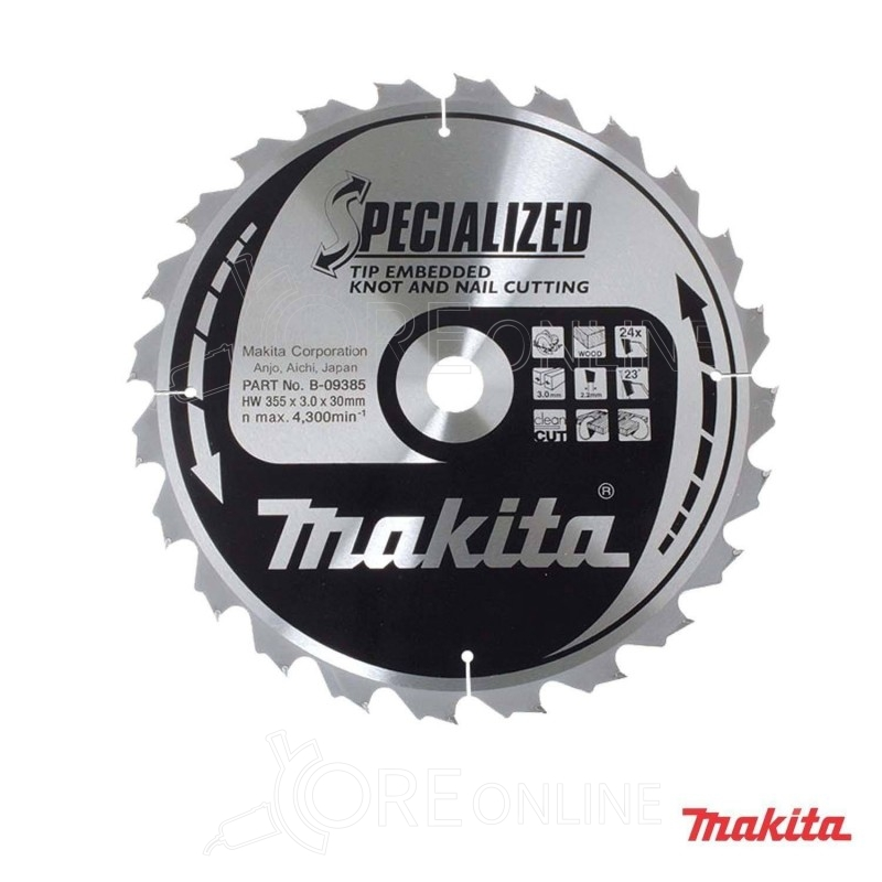 Lama Makita specialized B-09385 355 mm