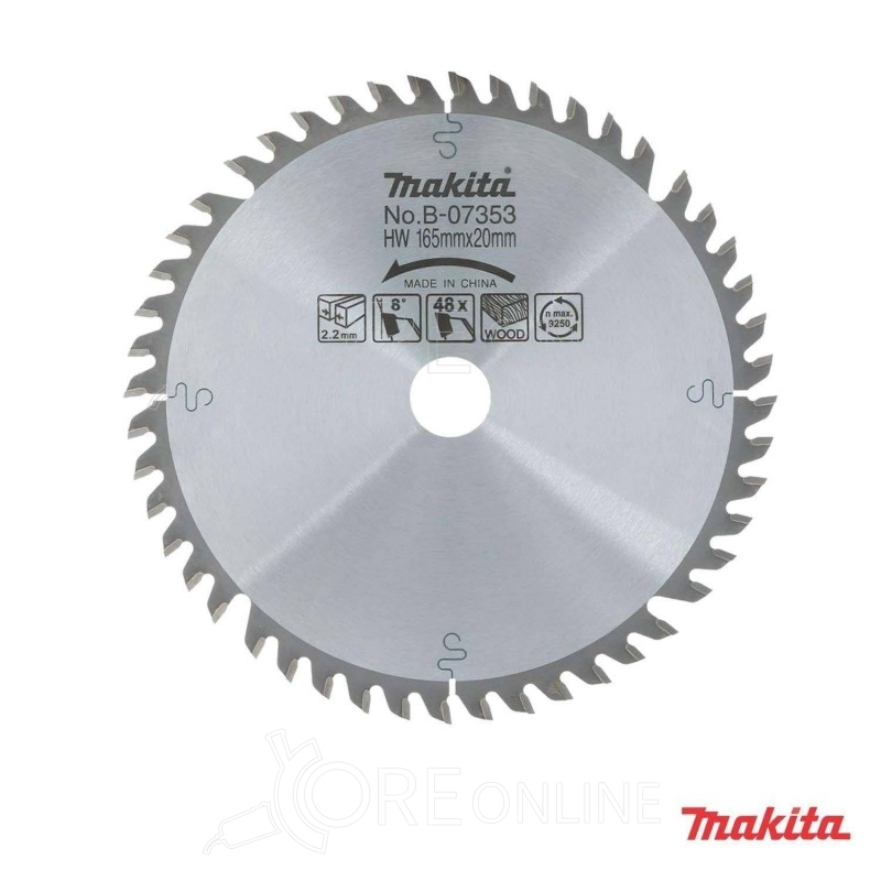 Lama 48 denti 165 mm Makita B-07353