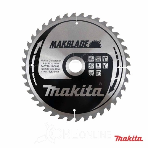 Lama Makita Makblade B-08981 260 mm