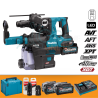 Makita HR002GM204 Tassellatore a tre funzion SDS-PLUS 40V XGT + DX14