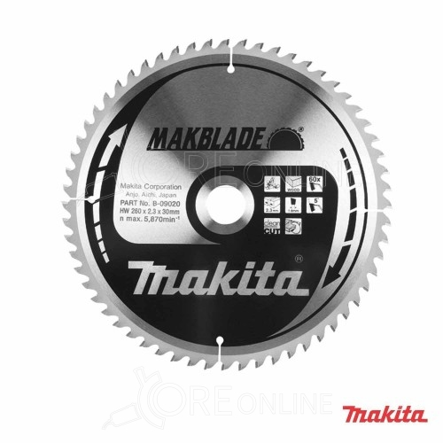 Lama Makita Makblade 60 denti  B-09020 260 mm